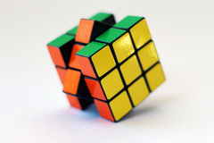 Rubik's cube on white background Royalty Free Stock Photos