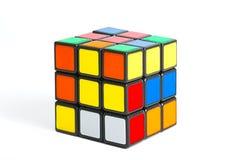 Rubik`s cube on white Royalty Free Stock Photography