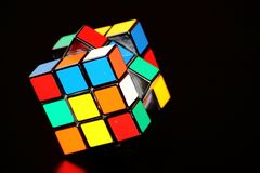 Rubik's Cube, Yellow, Mechanical Puzzle, Symmetry Royalty Free Stock Photography