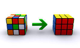 Rubiks cubes. Two rubiks cubes isolated on a white background (3d render Royalty Free Stock Image