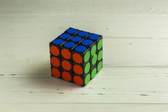 Rubik` s Kubus Royalty-vrije Stock Foto