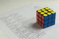 Rubik` s Kubus Royalty-vrije Stock Foto's