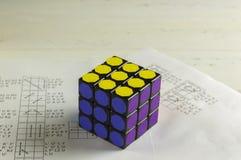 Rubik` s Kubus Stock Foto
