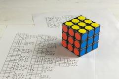 Rubik` s Kubus Royalty-vrije Stock Afbeelding