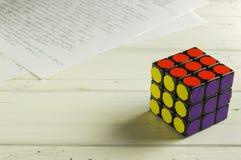 Rubik` s Kubus Royalty-vrije Stock Afbeeldingen