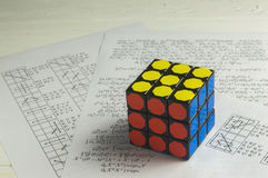 Rubik ` s sześcian Obrazy Royalty Free