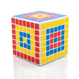 Rubik's V-Cube 7 Royalty Free Stock Images