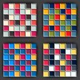 Rubik-` s Würfelmuster Stockbild
