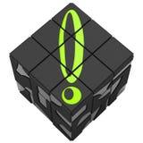 Rubik sześcianu okrzyk Zdjęcie Stock