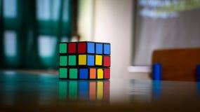 Rubik's cube on table