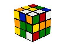 Rubiks立方体五颜六色的动画片例证 图库摄影