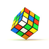 Rubiks cube. Isolated Rubiks cube with shadow under the cube Royalty Free Stock Image