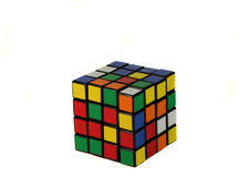Rubiks cube puzzle. Rubiks cube isolated over a white background Stock Photography