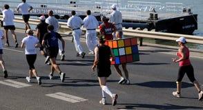 Rubiks Würfel - eine Allegorie - Budapest-Marathon Stockbild