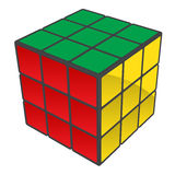 Rubiks Würfel gelöst lizenzfreie abbildung