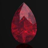 Rubin- eller Rodolite gemstone Royaltyfria Bilder