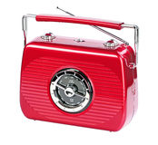 Rubin red portable radio Stock Images