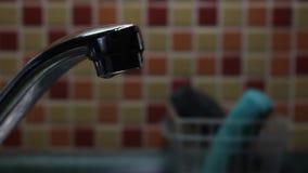 Rubinetto della cucina della sgocciolatura archivi video