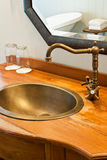 Rubinetto della stanza da bagno Fotografia Stock Libera da Diritti