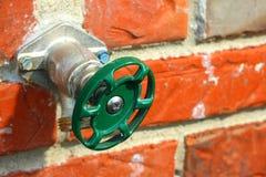 Rubinetto di acqua esterno Fotografia Stock Libera da Diritti
