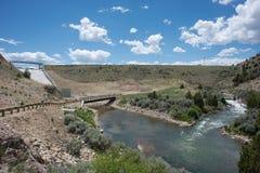 Rubinowa rzeki tama Fotografia Royalty Free