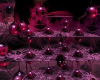 Rubinowe Czerwone Piłki Zdjęcia Stock