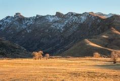 Rubinowe góry, Elko okręg administracyjny Nevada Zdjęcia Stock