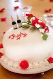 Rubinowy Ślubnej rocznicy tort Zdjęcia Royalty Free