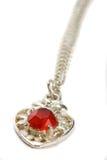 rubinowy biżuteria biel Zdjęcia Royalty Free