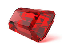 Rubinowy cenny kamień Obrazy Royalty Free