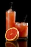 Rubinowy czerwonego winogrona owocowy sok zdjęcia stock
