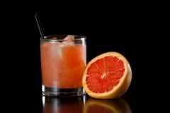 Rubinowy czerwonego winogrona owocowy sok Obraz Stock