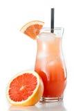 Rubinowy czerwonego winogrona owocowy sok zdjęcie royalty free