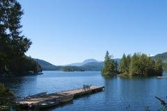 Rubinowy jezioro Zdjęcie Stock