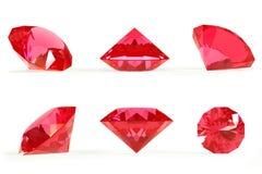 rubinowy set Fotografia Royalty Free