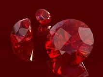 rubinowy set Zdjęcia Royalty Free