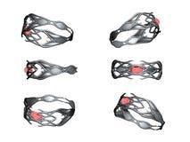 rubinu ringowy srebro Zdjęcie Royalty Free