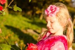 Rubio precioso del niño Fotografía de archivo libre de regalías