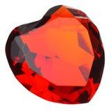 rubis de coeur de pierre gemme formé Photo stock