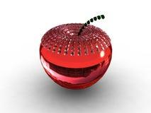 rubis rouge en verre de fond de pomme Images libres de droits