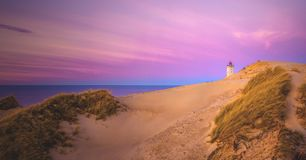 Rubjerg Knude in the evening light royalty free stock image