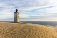 Rubjerg Knude lighthouse buried in sands on the coast of the North Sea stock photography