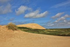 Rubjerg Knude, 90 meter high sand dune at the west coast of Denmark. Stock Images