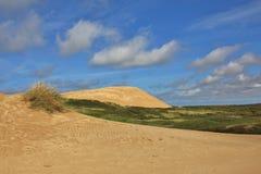 Rubjerg Knude, 90 misura l'alta duna con un contatore di sabbia alla costa ovest della Danimarca Immagini Stock