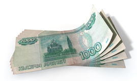 Ruble Bank Notes Spread Royalty Free Stock Image