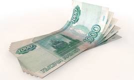 Ruble Bank Notes Spread Royalty Free Stock Photos
