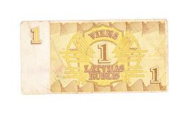 1 ruble bill of Latvia Royalty Free Stock Photo