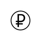 Ruble coin solid icon, finance and business Royalty Free Stock Photos