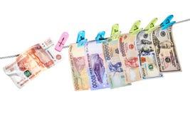 Ruble crash Stock Photos