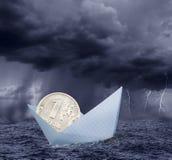 Ruble in crisis Stock Photo